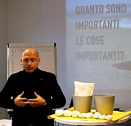 Lorenzo Sciadini durante la formazione e il coaching